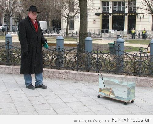 Έβγαλε το ψάρι βόλτα