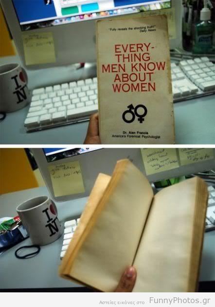 Όλα όσα ξέρουν οι άντρες για τις γυναίκες