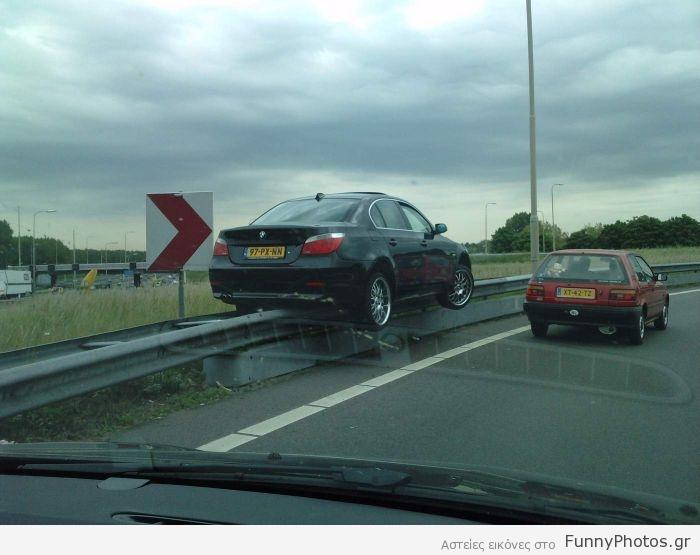 Παράνομα παρκαρισμένη BMW